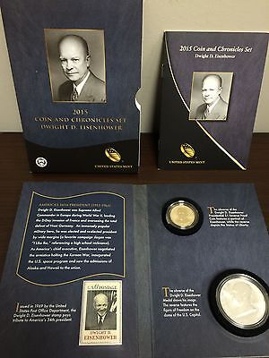 2015 Eisenhower Coin & Chronicles Set -Limited Mintage Of 17,000