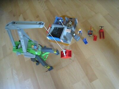 Playmobil 4470 Hafenkran + Playmobil 4135 Super-Set Baustelle