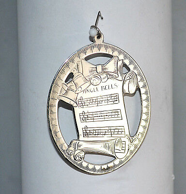 #7498- Lunt 1976 -Sterling Silver- the Music of Christmas -Jingle Bells Ornament