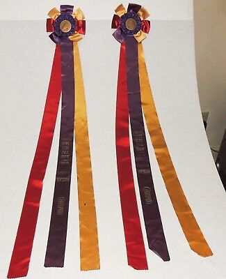 "Lot of 2 1948 Horse Show Ribbons Trophy Lynnhaven Hunt Club 40"" Champion"