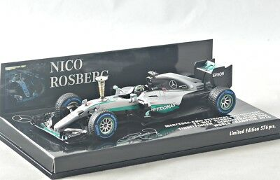NEW 1/43 Minichamps 410161006 Mercedes AMG W07, Sindelfingen Demo Run 2016, #6
