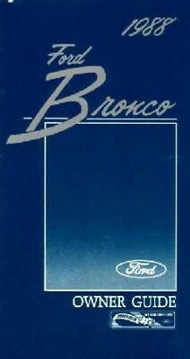 1982 Ford Bronco Owners Manual User Guide Reference Operator Book Fuses Fluids