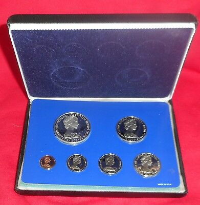 1975 British Virgin Islands Silver 6 Coin Proof Set With Case & COA (1018D)