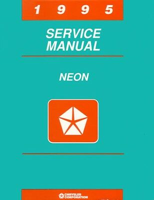1995 Dodge Plymouth Neon Shop Service Repair Manual Engine Drivetrain Electrical