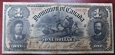 "1898 $1 Dominion of Canada Various | Boville Outwards ""1s"" DC-16c"