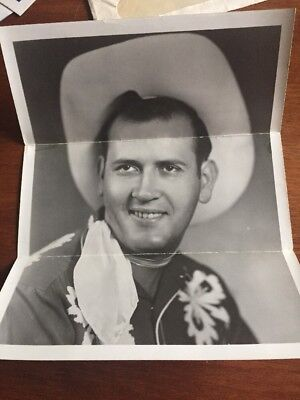 1956 Grand Ole Opry Star Jimmie Newman Promo Photo and letter