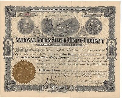 National Gold & Silver Mining Company.(New Mexico)...1906 Stock Certificate