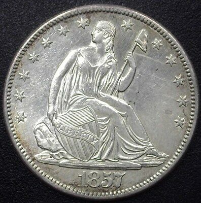 1857-O Seated Liberty Silver 50 Cents  Nearly Uncirculated