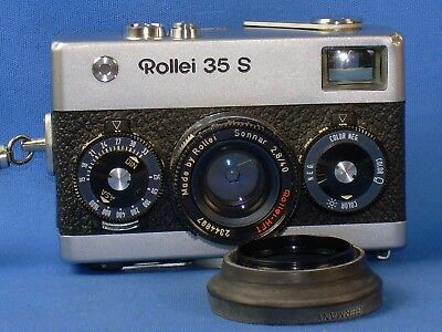ROLLEI 35 S, 35mm camera w/ 40mm f2.8 Sonnar lens. Works Great!