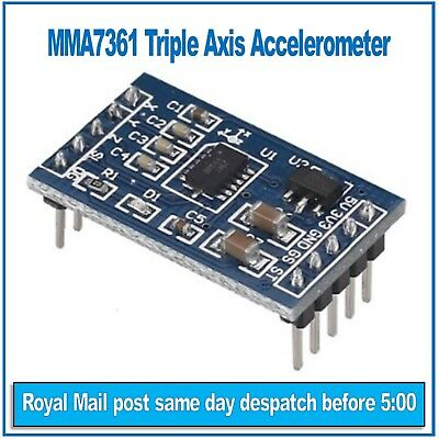 MMA7361  3 Axis Accelerometer Module for Arduino, PIC, AVR, ARM