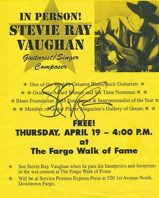 Stevie Ray Vaughan- Signed in Person Advertisement