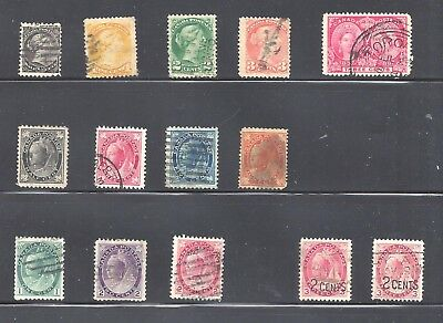 Canada SELECTION OF 19th CENTURY QUEEN VICTORIA SCOTT 34/88 USED (BS10387)