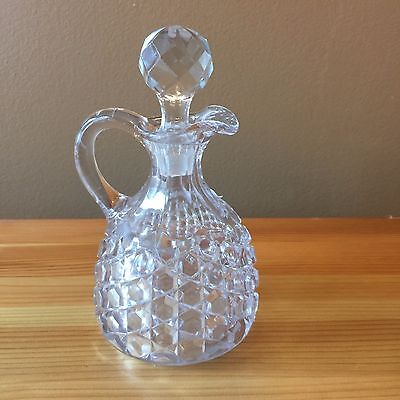 Vintage Cut Glass Crystal Cruet with Stopper