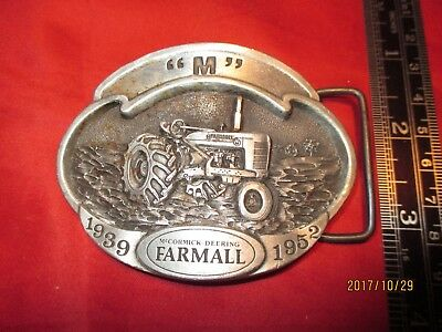 Farmall M Tractor 1939 1952 Belt Buckle