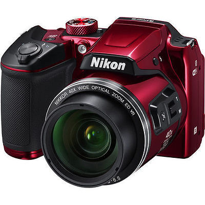 Nikon COOLPIX B500 16MP 40x Optical Zoom Digital Camera w/ Builtin WiFi - Red