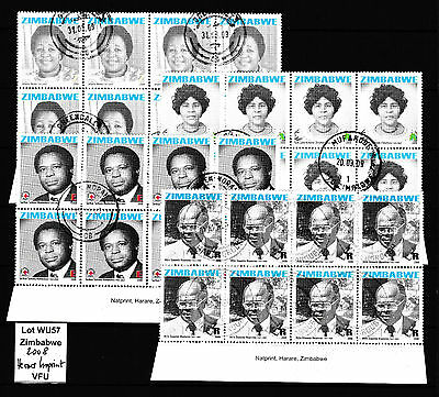 Zimbabwe 2008 Heroes Imprint Blocks, MNH (WU57) (sheet margin) / Red Cross