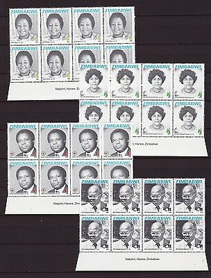 Zimbabwe 2008 Heroes Imprint Blocks, MNH (sheet margin) / Red Cross