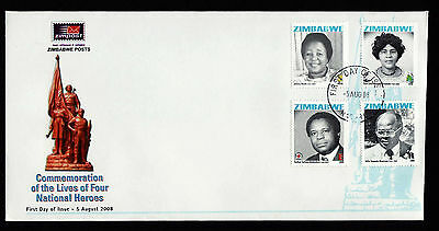 Zimbabwe 2008 National Heroes, First Day Cover (FDC)