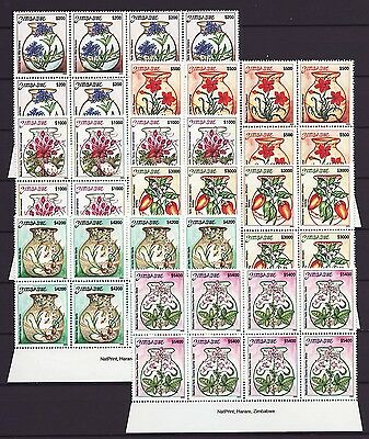 Zimbabwe 2003 Medicinal Herbs Imprint Blocks, MNH (sheet margin)