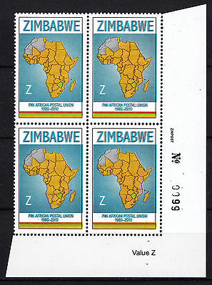 Zimbabwe 2010 PAPU (Postal Union) Sheet No. 0099, MNH