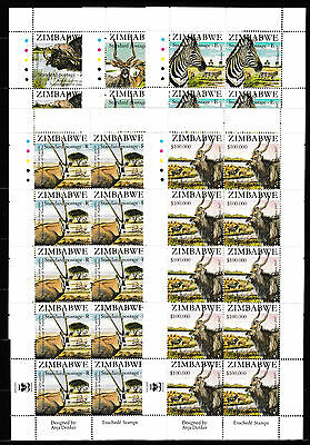 Zimbabwe 2007 SAPOA National Animals in Sheets of 10, MNH