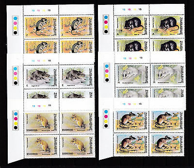 Zimbabwe 2008 Rats & Mice 1B Cylinder Blocks, MNH (seeht margin)