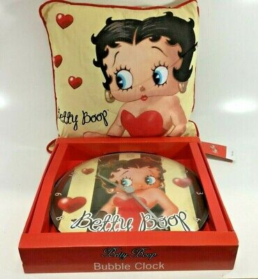 Betty Boop Large Bubble Wall Clock & Large Cushion