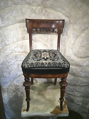Gorgeous Vintage Antique Wooden Carved Hand Made Chair Perfect Qute Rare Size