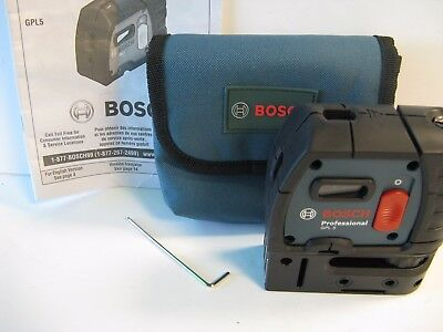 NEW Bosch GPL 5 S Self-Leveling Alignment Laser 5-Point 100 ft 30m