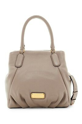 Marc by Marc Jacobs New Q Fran Leather Satchel Tote Bag Cement New With Tags