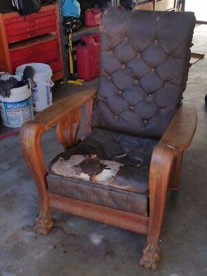 Vintage Antique Collectible Recliner Chair The Kelly Automatic Morris  J A