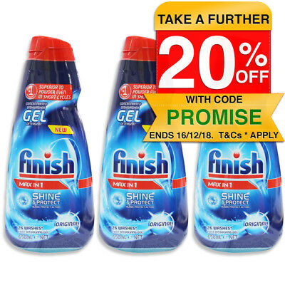Finish 1.95L 78 Washes Concentrated Gel Dishwasher Liquid Detergent (No Tabs)
