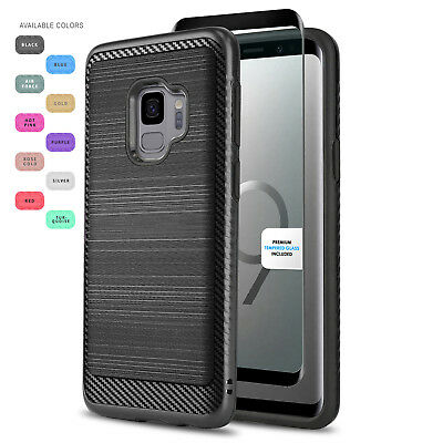 Modern Cover Phone Case For [Samsung Galaxy S9 / S9 Plus] +Black Tempered Glass