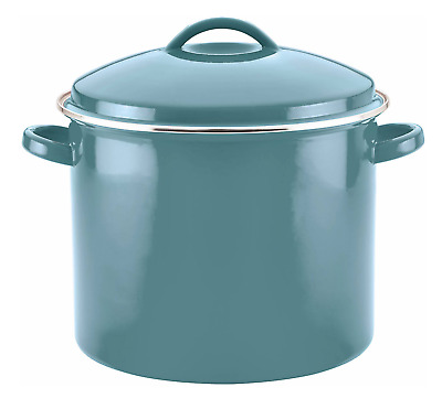 Round Stock Pot Chicken Set Large Beef Enamel Soup Heavy Duty Colored 16qt NEW