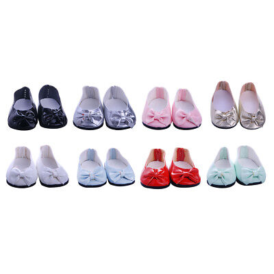 Cute Bow Shoes Sneakers Flats for 18'' American Girl Our Generation Doll Clothes