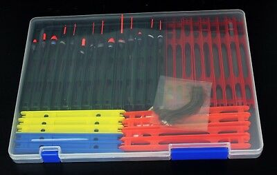 14 Max Pole Rigs Commercial Carp Fishing pole rig box Assorted ready made pole