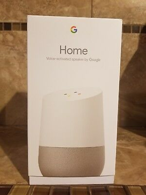 Google Home - White Slate, Google Personal Assistant - BRAND NEW- NEVER OPENED