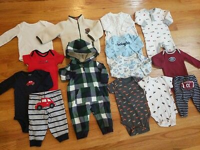 14 Piece Lot Gap & Carter's Baby Boy Clothes Bundle 3M