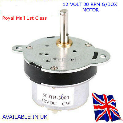 30 RPM  Reversable Motor & GBox - Automation - RASPBERRY Pi - Available in UK