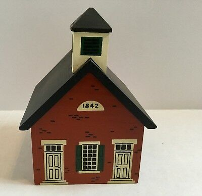 Windfield Designs Wooden Bank House 1984 H Musser Signed School 1842