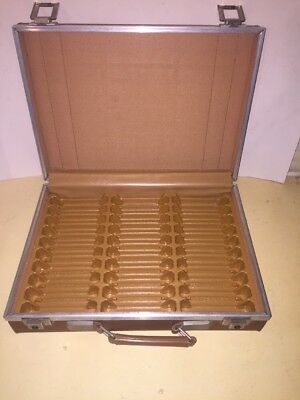 Vintage Cassette Audio Tape Carrying Case 30 ct Vinyl Faux Leather Brown USA
