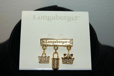 New Longaberger Basket Bee Charm Pin Brooch