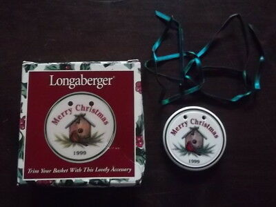 Longaberger Merry Christmas 1999 Tie On or Christmas Ornament