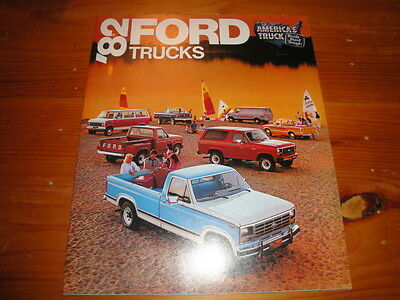 1982 Ford Trucks Fold Out Advertising Brochure