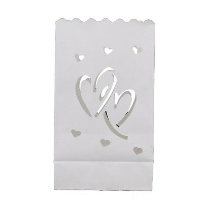 10x Love Heart Wedding Candle Paper Bag Lantern Lampshade for Wedding Path Decor