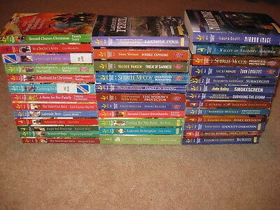 Lot of 37 Love Inspired Suspense Heartwarming Romance Books Some Larger Print
