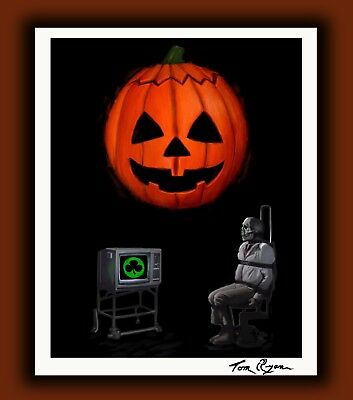 "Halloween 3 Season of the Witch 11x14"" Horror Movie Art Print - Silver Shamrock"