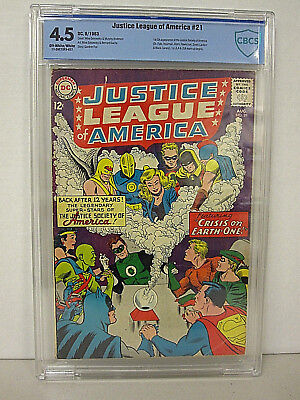 DC JUSTICE LEAGUE OF AMERICA # 21; AUGUST 1963; GRADED 4.5 by CBCS