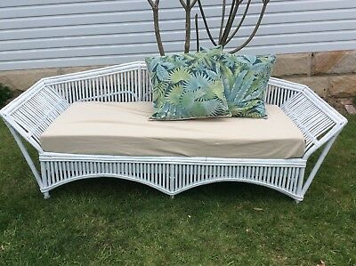 split cane daybed lounge