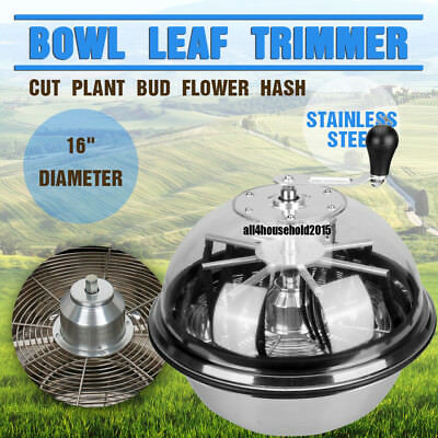 Manual 16 Inch Leaf Bowl Trimmer Twisted Spin Cut for Plant Bud and Flower